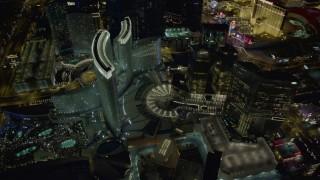 DCA03_035 - 4K stock footage aerial video of orbiting Aria Resort, Veer Towers, Mandarin Oriental, Las Vegas, Nevada Night