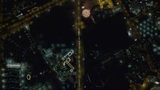 DCA03_088 - 4K stock footage aerial video of a bird's eye view following Las Vegas Boulevard, Las Vegas, Nevada Night