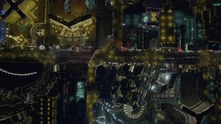 DCA03_098 - 4K stock footage aerial video of a bird's eye view of Las Vegas Boulevard, Nevada Night