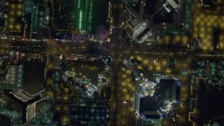 DCA03_099 - 4K stock footage aerial video of a bird's eye view of Las Vegas Boulevard, Nevada Night
