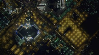 DCA03_100 - 4K stock footage aerial video of a bird's eye view of Las Vegas Boulevard, Nevada Night