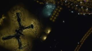 DCA03_107 - 4K stock footage aerial video of bird's eye view of McCarran International Airport, Las Vegas, Nevada Night