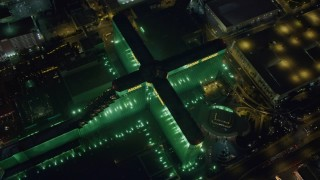 DCA03_137 - 4K stock footage aerial video of orbiting MGM Grand, Las Vegas, Nevada Night