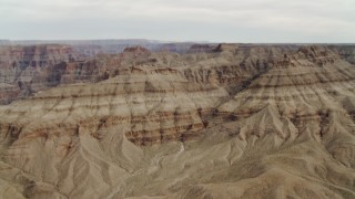 DCA04_021 - 4K stock footage aerial video of tilt up revealing Grand Canyon, Arizona