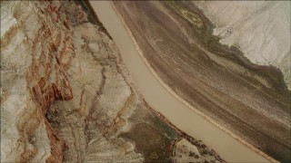 DCA04_023 - 4K stock footage aerial video of a bird's eye view of Colorado River in Grand Canyon, Arizona