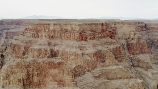 DCA04_031 - 4K stock footage aerial video of flying by cliffs in Grand Canyon, Arizona