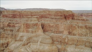 DCA04_036 - 4K stock footage aerial video of flying by jagged cliffs in Grand Canyon, Arizona