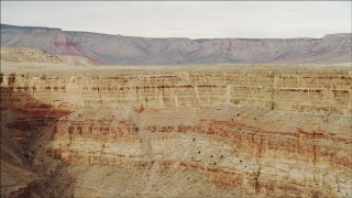 DCA04_040 - 4K stock footage aerial video of panning across cliffs in Grand Canyon, Arizona