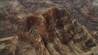 DCA04_042 - 4K stock footage aerial video of approaching a rock formation in Grand Canyon, Arizona