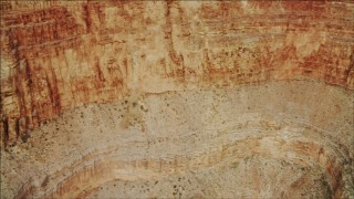 DCA04_045 - 4K stock footage aerial video of flying by a cliff face in Grand Canyon, Arizona