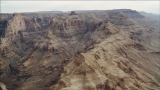 DCA04_054 - 4K stock footage aerial video of flying by rock formations in Grand Canyon, Arizona
