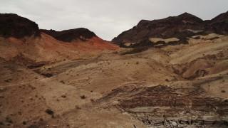 DCA04_068 - 4K stock footage aerial video of flying over desert dunes near Hiller Mountains, Nevada