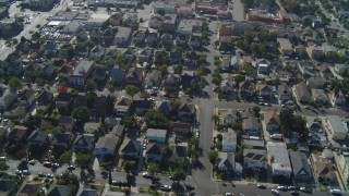 DCA05_055 - 4K stock footage aerial video of flying over Pico-Union residential neighborhood, Los Angeles, California