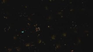 DCA07_186 - 4K stock footage aerial video bird's eye view above a residential neighborhood, Woodland Hills, California, night
