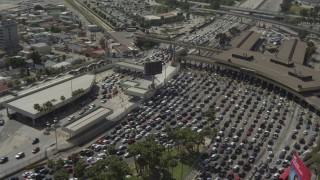 US/Mexico Border Aerial Stock Footage