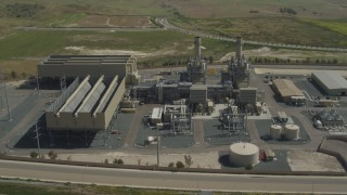 DCA08_098 - 4K stock footage aerial video of circling a power plant in Otay Mesa, California