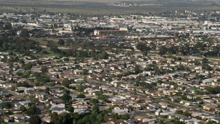 DCA08_142 - 4K stock footage aerial video of suburban neighborhoods, Clairemont, California