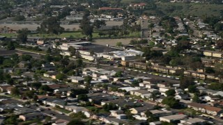 DCA08_143 - 4K stock footage aerial video of suburban residential neighborhoods, Clairemont, California