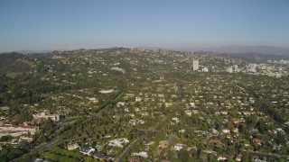 DCLA_119 - 5K stock footage aerial video of Beverly Hills residential neighborhoods in California