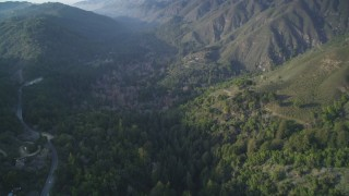 DCSF03_053 - 5K stock footage aerial video Flying over Pfeiffer Big Sur State Park, Big Sur, California
