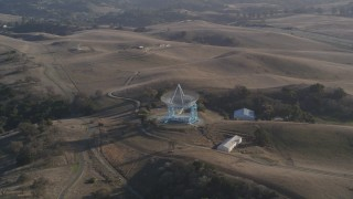 DCSF09_021 - Aerial stock footage of 5K Aerial Video Orbiting The Dish, Stanford Foothills, Stanford, California
