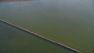 DCSF09_030 - Aerial stock footage of 5K Aerial Video of A reverse view of wetlands in Union City, California