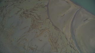 DFKSF06_145 - 5K stock footage aerial video of a bird's eye view of the marshland near Bolinas Lagoon, Bolinas, California