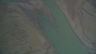 DFKSF06_146 - 5K stock footage aerial video of a bird's eye view of the marshes near Bolinas Lagoon, Bolinas, California