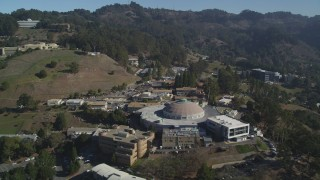 DFKSF08_018 - 5K stock footage aerial video of flying over Lawrence Berkeley National Laboratory, Lawrence Hall of Science, California