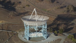 DFKSF12_027 - 5K stock footage aerial video of orbiting The Dish in the Stanford Foothills, Stanford, California