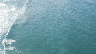 DFKSF15_149 - 5K stock footage aerial video of circling above seals and rolling waves, Moss Landing, California