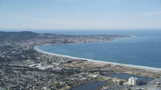 DFKSF15_154 - 5K stock footage aerial video of the Monterey Peninsula and Monterey coastal community, Monterey, California
