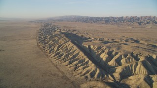 DFKSF17_027 - 5K stock footage aerial video of approaching the San Andreas Fault, San Luis Obispo County, California