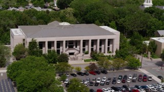 DX0001_000117 - 5.7K stock footage aerial video of passing by the Supreme Court of Nevada in Carson City, Nevada