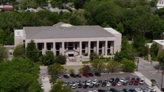 DX0001_000118 - 5.7K stock footage aerial video of flying by the Supreme Court of Nevada in Carson City, Nevada
