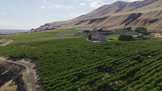 DX0001_000448 - 5.7K stock footage aerial video approach to the Maryhill Winery in Goldendale, Washington