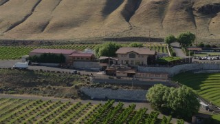 DX0001_000451 - 5.7K stock footage aerial video of passing the Maryhill Winery in Goldendale, Washington