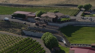 DX0001_000465 - 5.7K stock footage aerial video of the Maryhill Winery and amphitheater in Goldendale, Washington