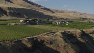 DX0001_000478 - 5.7K stock footage aerial video of the Maryhill Winery, amphitheater, and vineyard in Goldendale, Washington