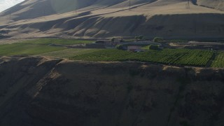 DX0001_000504 - 5.7K stock footage aerial video of the Maryhill Winery and amphitheater in Goldendale, Washington