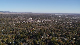 DX0001_001891 - 5.7K stock footage aerial video flying by Boulder, Colorado and surrounding neighborhoods
