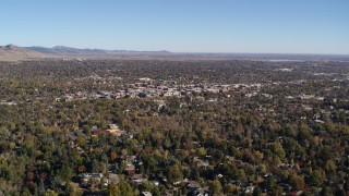 DX0001_001893 - 5.7K stock footage aerial video of a wide view of Boulder, Colorado and surrounding neighborhoods