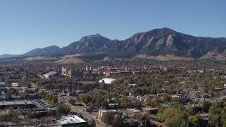Boulder, CO Aerial Stock Footage