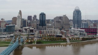Cincinnati, OH Aerial Stock Footage