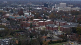 DX0001_003219 - 5.7K stock footage aerial video flyby and approach the Transylvania University campus in Lexington, Kentucky