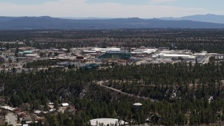 DX0002_133_025 - 5.7K stock footage aerial video of a view of the Los Alamos National Laboratory, New Mexico