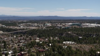 DX0002_134_008 - 5.7K stock footage aerial video ascend for wide view of Los Alamos National Laboratory, New Mexico