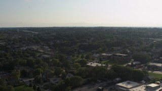 DX0002_170_030 - 5.7K stock footage aerial video of a wide view of suburban neighborhoods in Omaha, Nebraska
