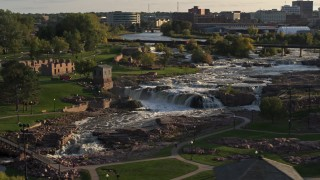 Sioux Falls, SD Aerial Stock Footage