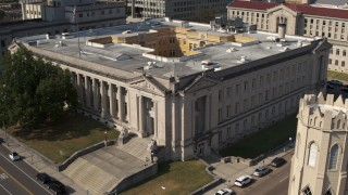 DX0002_184_017 - 5.7K stock footage aerial video of a courthouse in Downtown Memphis, Tennessee